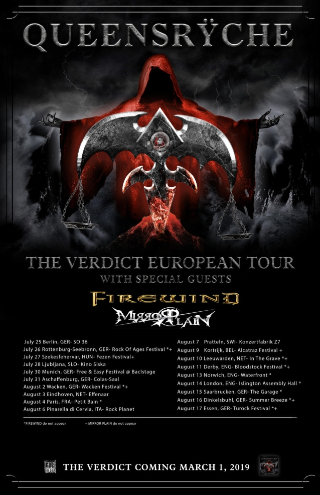 Queensrÿche Announces Summer 2019 European Tour - Blabbermouth net