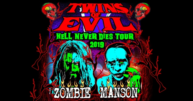 ROB ZOMBIE And MARILYN MANSON Announce 'Twins Of Evil: Hell Never Dies Tour 2019'; BLABBERMOUTH.NET Presale Available