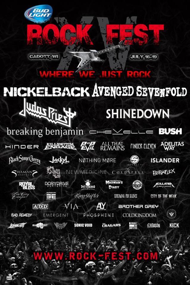 Nickelback Avenged Sevenfold Judas Priest Shinedown To Headline