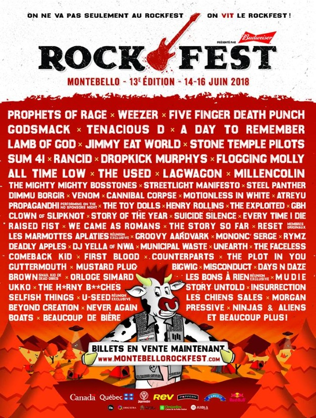 PROPHETS OF RAGE, FIVE FINGER DEATH PUNCH, GODSMACK, STONE TEMPLE PILOTS Set For This Year's ...