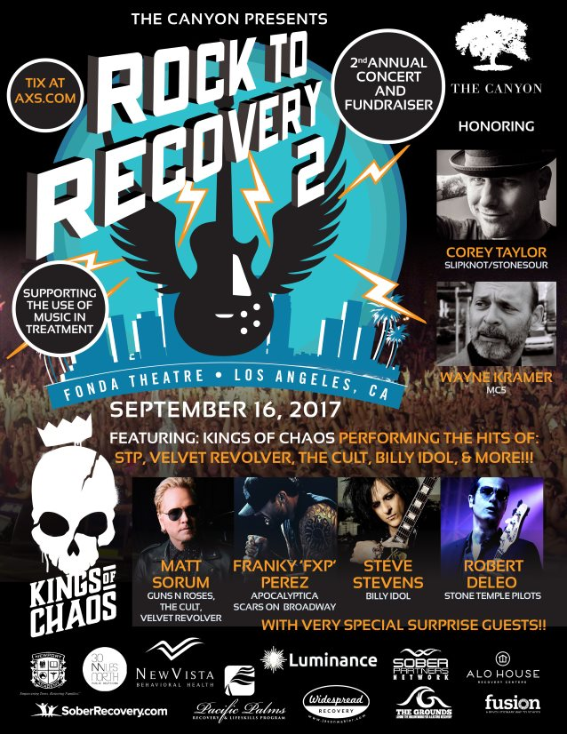 COREY TAYLOR Gives Emotional Speech While Being Honored At 'Rock To Recovery 2' Benefit Concert (Video)