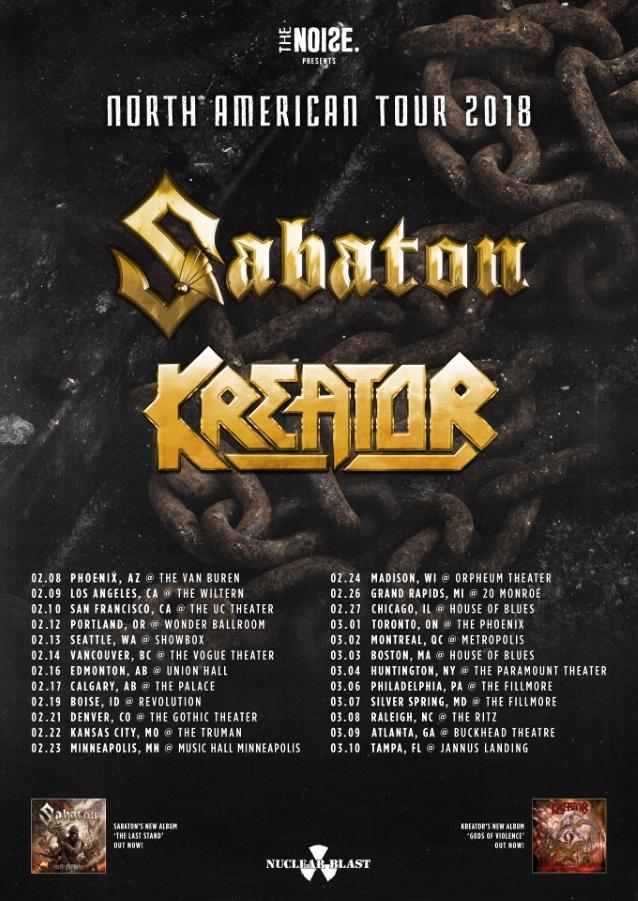 Sabaton North America Tour