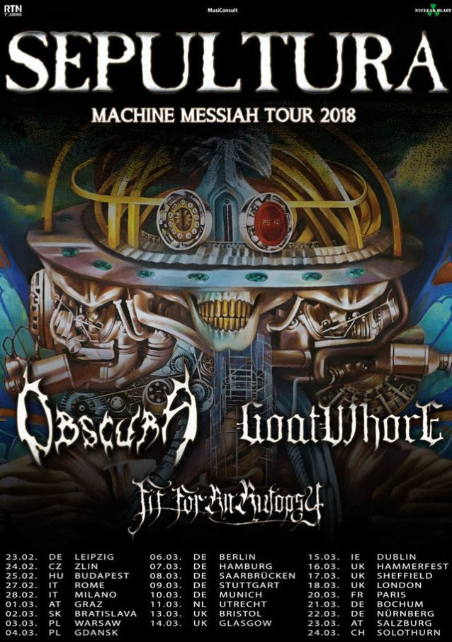 Sepultura to tour europe with obscura goatwhore fit for an autopsy not try to copy formulas and try to fulfill expectations that are impossible to fulfill yeah i think machine messiah is one of our best works thecheapjerseys Choice Image