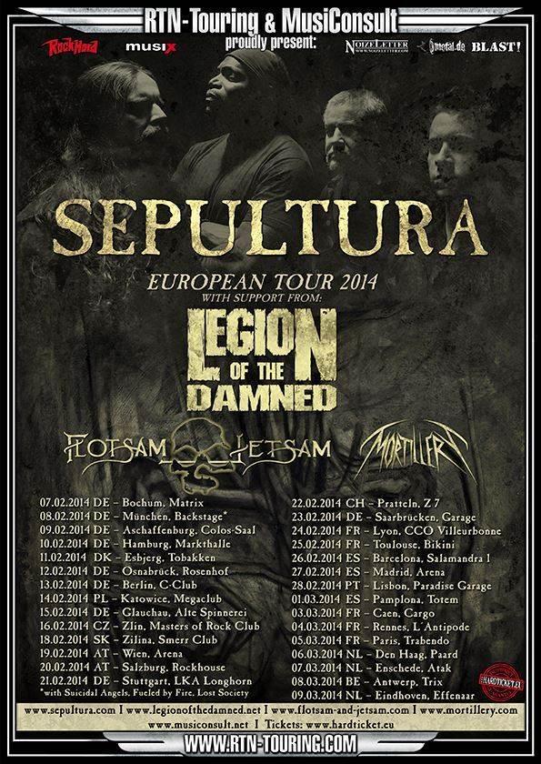 Sepultura - Europa 2014