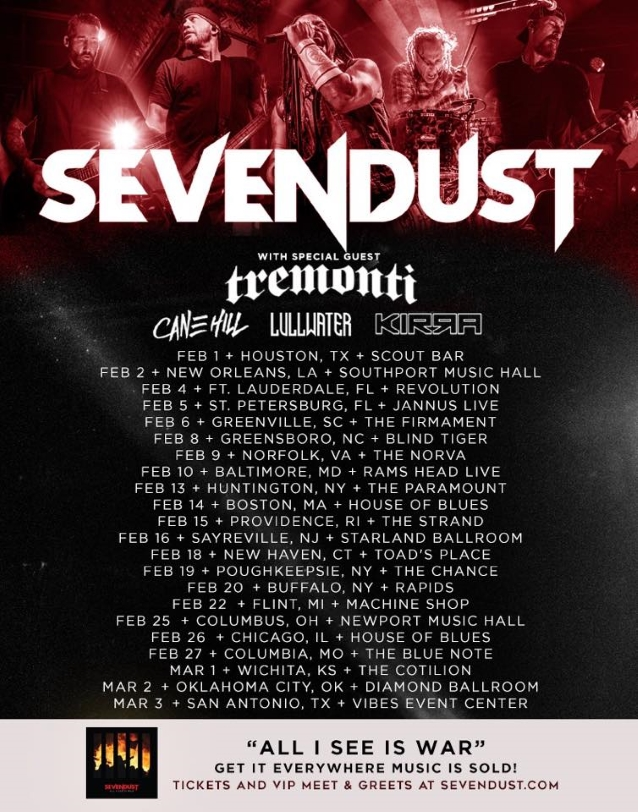 SEVENDUST Announces Early 2019 U.S. Tour With TREMONTI; BLABBERMOUTH.NET Presale Available
