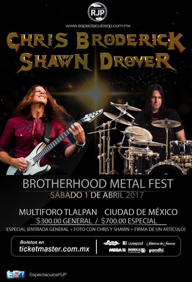 Video: Ex-MEGADETH Members CHRIS BRODERICK, SHAWN DROVER Perform METALLICA, MOTÖRHEAD Covers In Mexico City