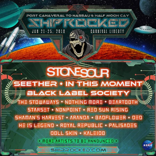 Stone sour seether in this moment set for next years shiprocked defying live performances out of this world artist hosted events and activities meet and greets crazy theme nights after hour parties and more m4hsunfo