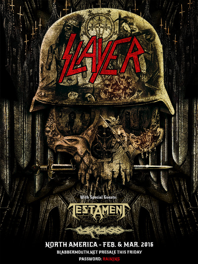 Slayer Testament Carcass North American Tour Dates