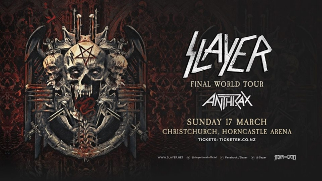 SLAYER And ANTHRAX Christchurch Show Canceled Following