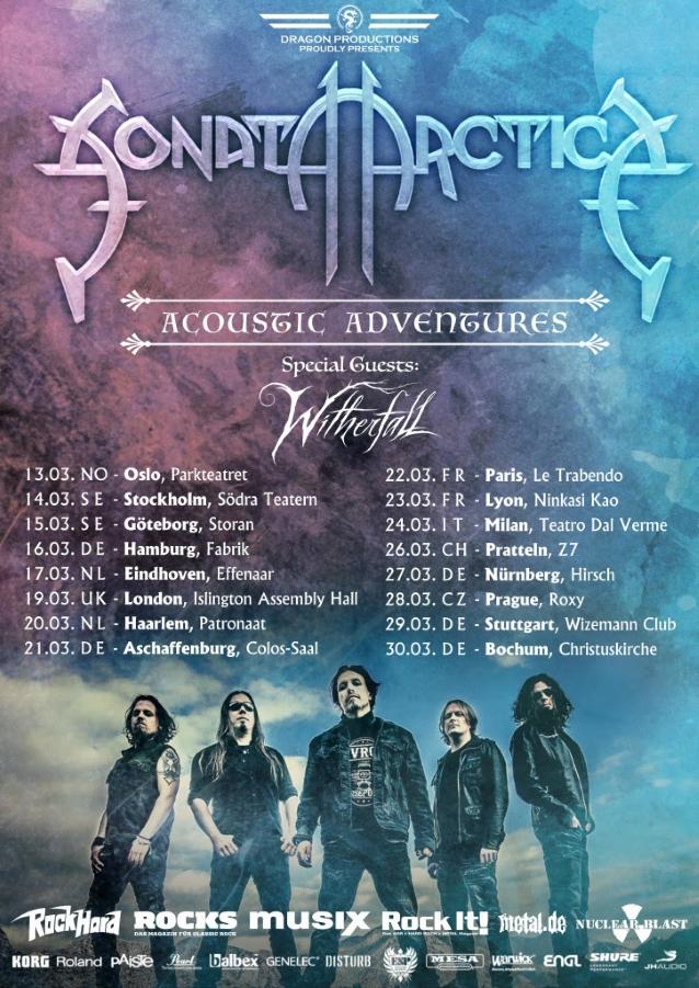 Sonata Arctica Begins Recording New Album, Announces 'acoustic Adventures' European Tour