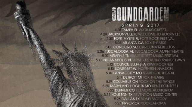 Soundgarden Spring Tour  Poster