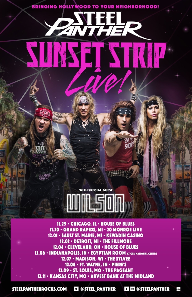 watch steel panther perform with fill in bassist spyder in chicago. Black Bedroom Furniture Sets. Home Design Ideas