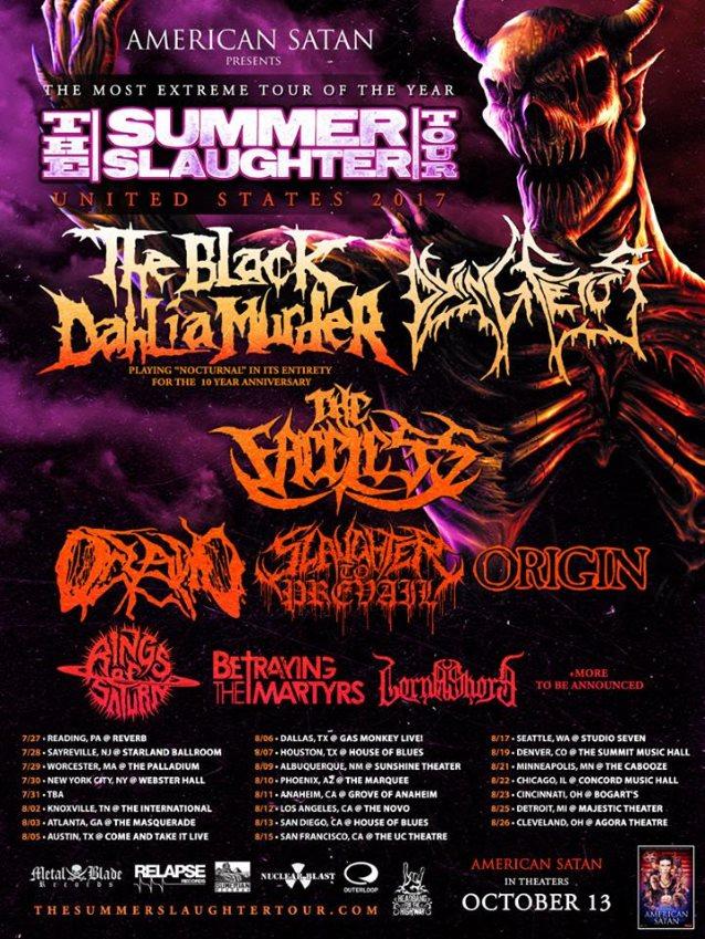 Summer Slaughter Tour Cincinnati