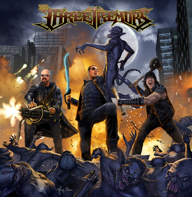 THE THREE TREMORS Feat. TIM 'RIPPER' OWENS, SEAN PECK And HARRY CONKLIN: 'When The Last Scream Fades' Lyric Video