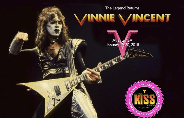 Former KISS Guitarist VINNIE VINCENT Announced As Special Guest At Atlanta KISS Expo