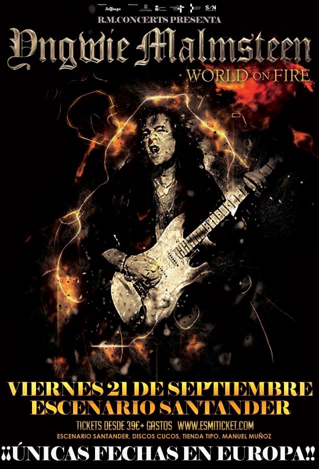 YNGWIE MALMSTEEN: Video Of Santander, Spain Concert